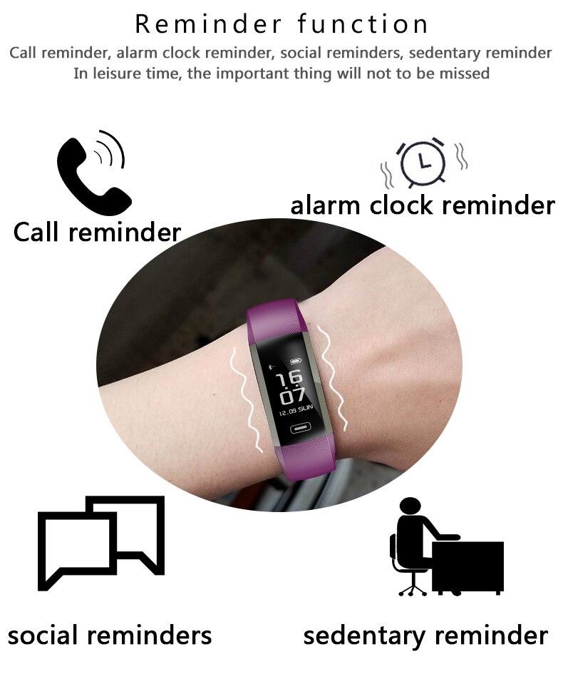 M2 Pro R5MAX Smart Fitness Bracelet Watch 50word Information display blood pressure heart rate monitor Blood oxygen PK Mi Band 3 (10)