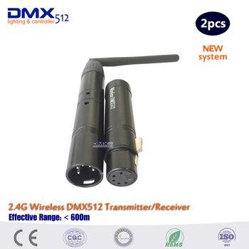 2017 جديد وصول 5pin XLR اللاسلكية DMX512 تحكم لاسلكي الارسال والاستقبال التحكم LED مصابيح يندمج بها اللون الأحمر والأخضر والأزرق
