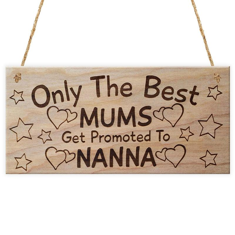 Only The Best Mums Get Promoted To Hanging Plaque Wedding Sign Board Message For Events Party Decorative Gadgets