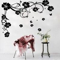 Énorme vigne arbre Vinyle wall sticker pour chambre d'enfants home Decor Pastorale fleur murale Amovible art decal salon décoration