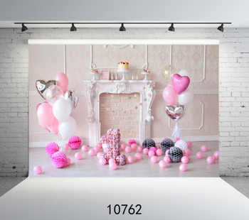 Photography Background Photo Pink Balloons 1st Birthday Party Customize vinyl Digital Printing Cloth Backdrops for studio - discount item  26% OFF Camera & Photo