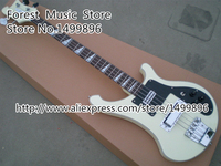 Wholesale & Retail Musical Instrument White 4 String Suneye R4003 Chinese Rick Electric Bass Guitars Kits Custom Available