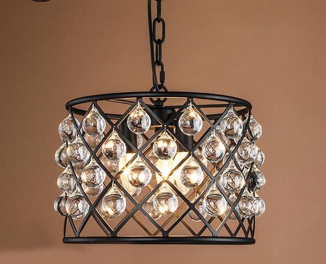 Lampadario Da Ingresso : Retro antique gocce di cristallo bling lampadario semi flushmount