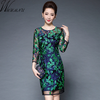 Wmwmnu 2017 Womens Elegant Sexy Embroidery Crochet Hollow Out Dress Party Evening Special Dress Sheath Fitted