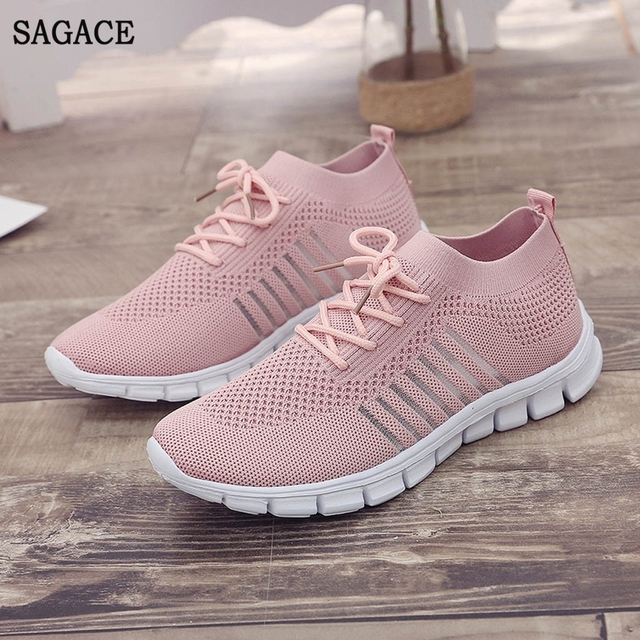 SAGACE  Women Casual Summer Autumn Sneakers Sport Shoes Ladies Casual Walking Vulcanized Sneakers Shoes 2019 Fashion Sneakers 1