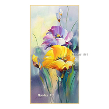 100% Hand Painted modern palette knife flower oil paintings Wall Decoration Abstract Art Pictures On Canvas For Home
