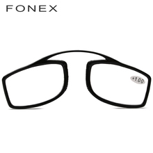 ff546a7506 FONEX Thin Stripe Optical SOS Pince Nez Style Nose Resting Pinching Reading  Glasses