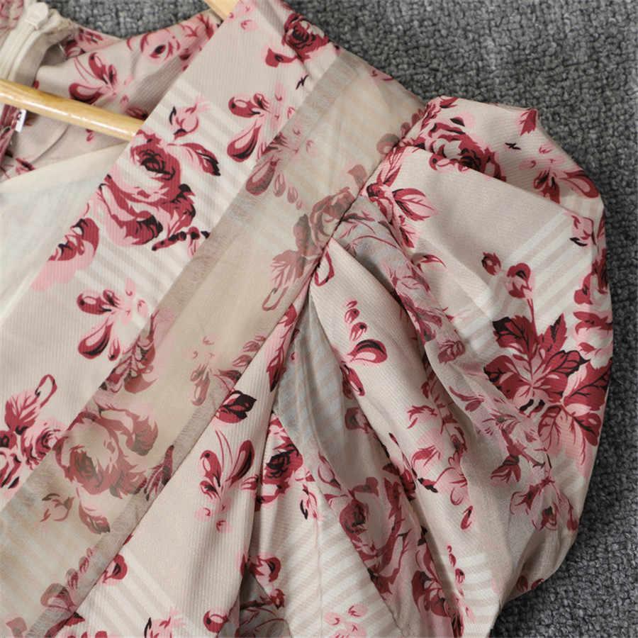 2019 Весна новое поступление платья женские Высокое качество длинное платье сексуальное с v-образным вырезом платье с открытыми плечами Vestidos цветочное печатное лоскутное платье