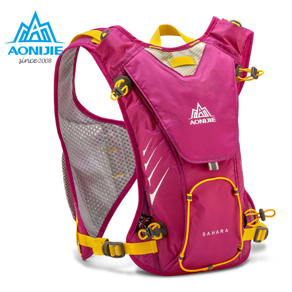 AONIJIE E902 Hydration Pack Backpack Rucksack Bag Vest Harness Water Bladder Hiking Camping Running Marathon Race Sports 8L Rose