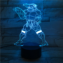 Teenage Mutant Ninja Turtles Desk lamp bedside Cartoon Touch Sensor RGB Children Kids Michelangelo Mike LED Night Light Comics 2015 comics teenage mutant ninja turtles wallet dollar price purse pu tide men women boys girls wallets for young students w020