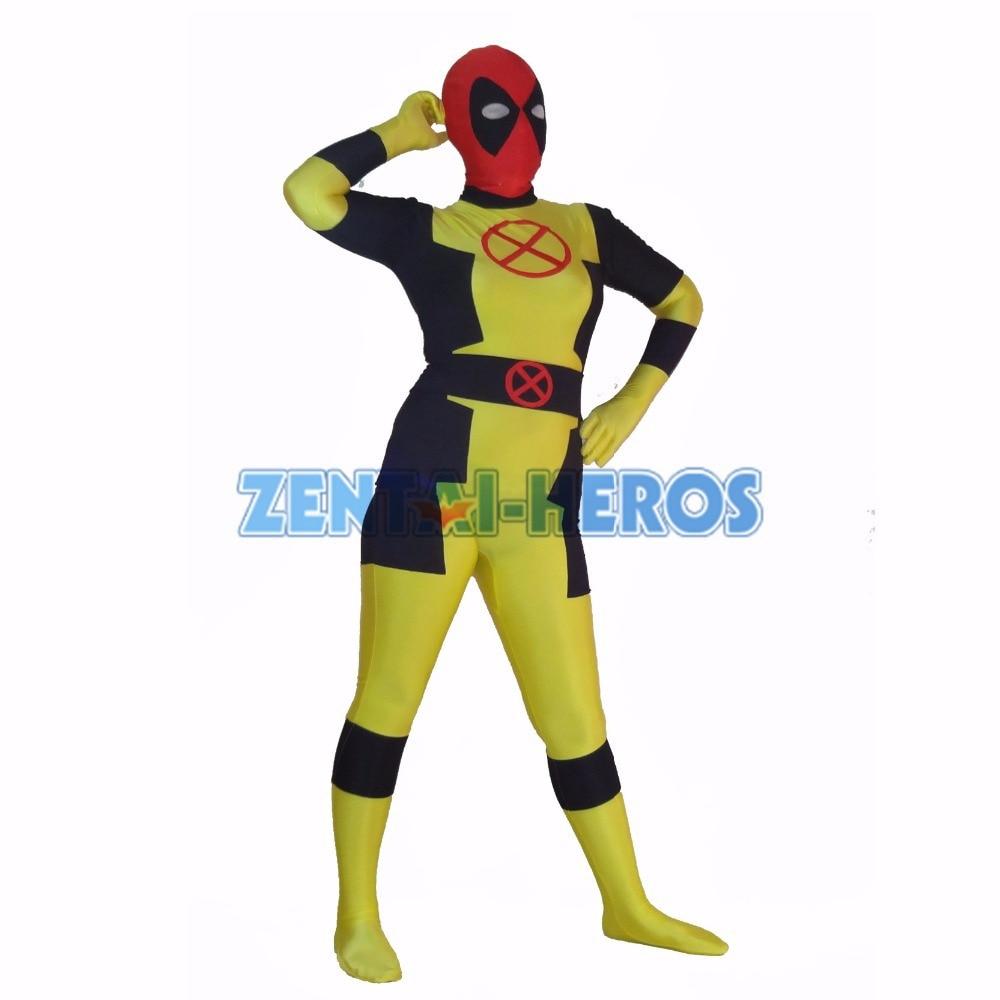 New Style Custom X-men Deadpool Costume Halloween Party Cosplay Sexy Costumes Catsuit Zentai Suit