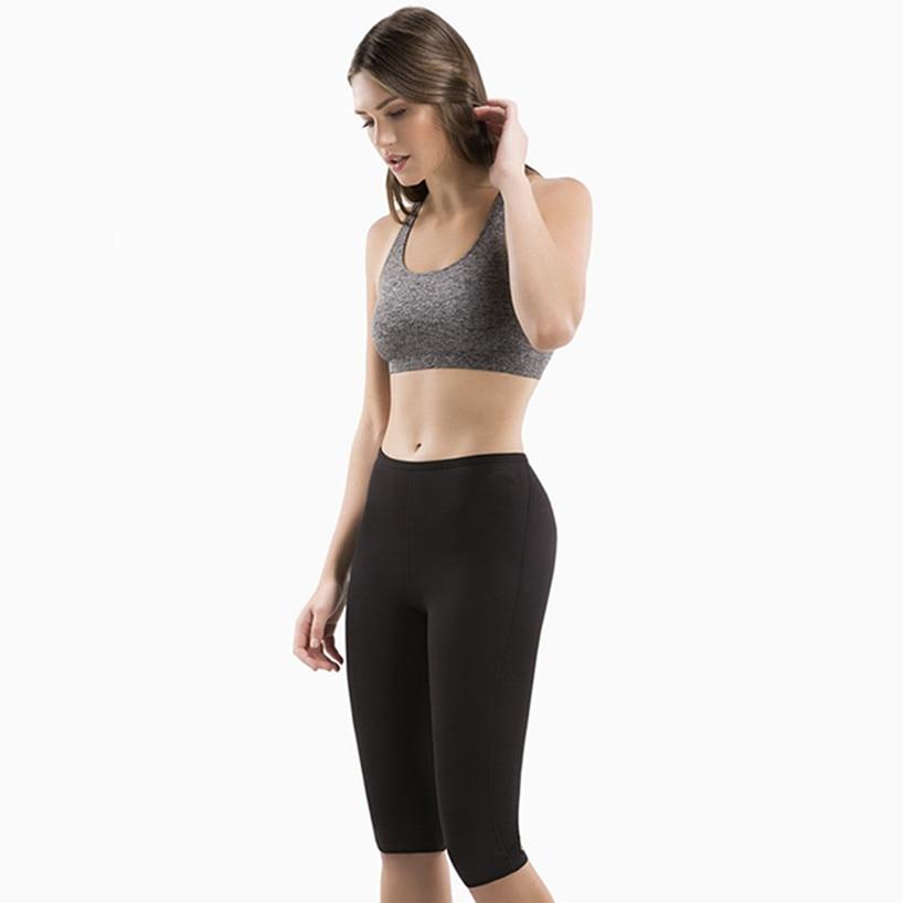 Neoprene Slimming Sports Gym Shorts Women Yoga short High waisted Sweat Fabric Quick-drying Fitness Running Elastic tight shorts