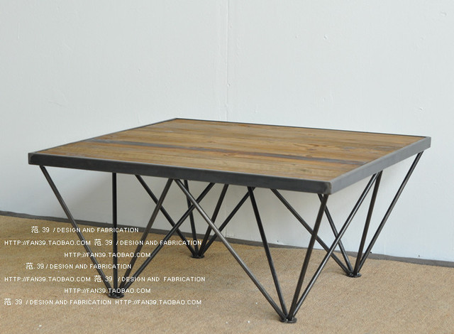 Do The Old Retro Minimalist Modern Rustic Furniture LOFT Industrial Style Wrought Iron Coffee Table