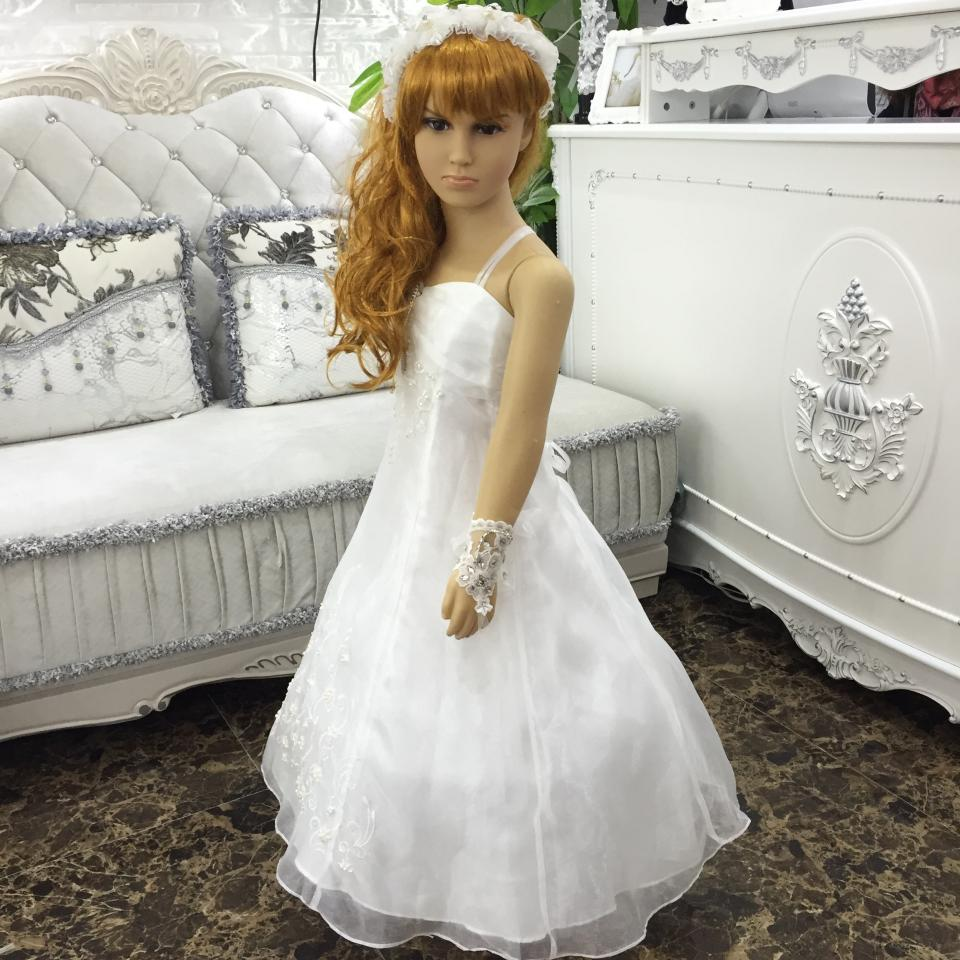 f6fdb2aea Free shipping Plus Size 2T 14T Girl Cheap Flower Girl Dresses For Weddings  White First Communion Dresses Embroidery Organza 1778-in Flower Girl Dresses  from ...
