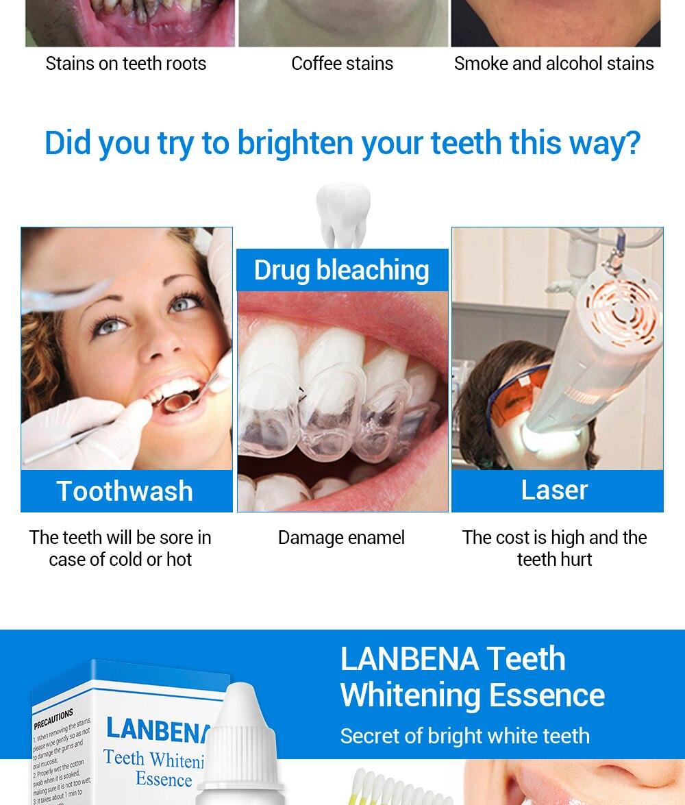 Hautpflege Lanbena Zähne Bleaching Essenz Pulver Oral Hygiene Reinigung Serum Entfernt Plaque Flecken Zahn Bleichen Dental Werkzeuge Zahnpasta