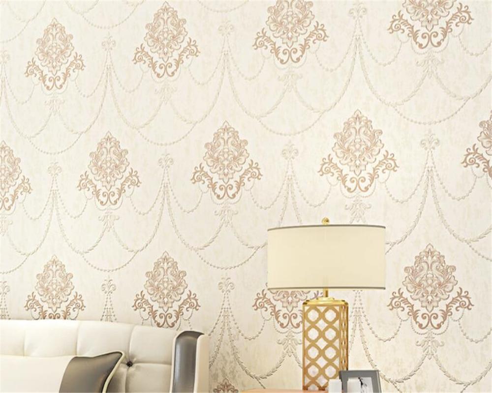 Beibehang High - grade European embossed wallpaper waterproof wallpaper modern simple Home background decoration 3d wallpaper