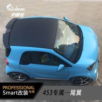 Pour merdec-benz Smart Fortwo Fourfour 453 becquet de plastique ABS sans apprêt de peinture couleur aileron d'aile de coffre arrière