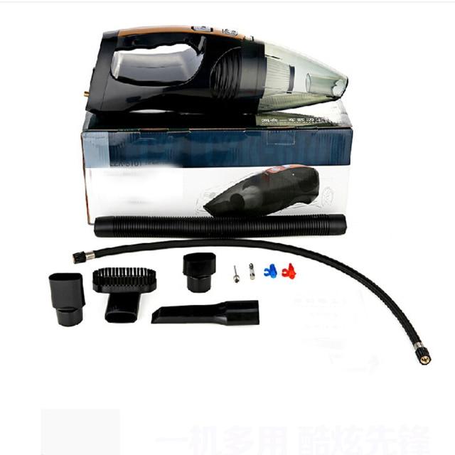 2016 New Four in one multifuction Car vacuum cleaner +Measuring tire pressure  illumination Inflator Car accessories