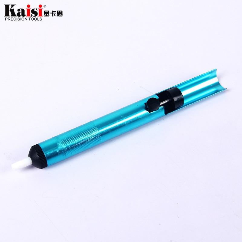 Aluminum Solder Sucker Desoldering Pump Irons Remove Remover Tool Tin Pen、YJCA
