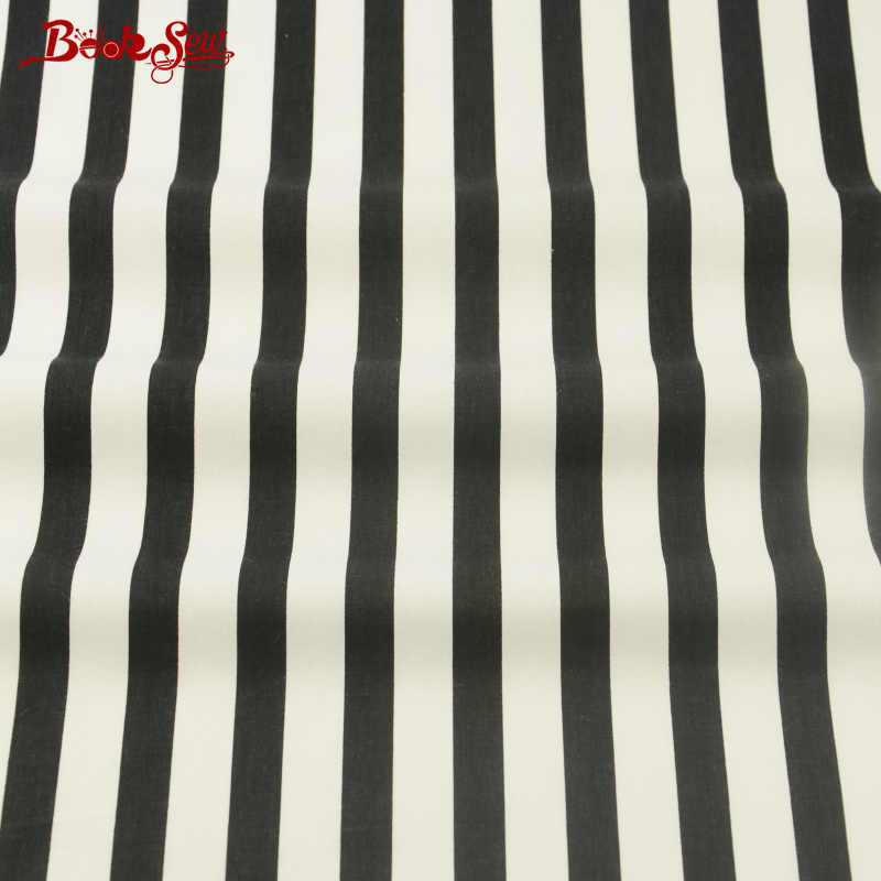 100% Cotton Fabric Material Black and White Stripe African Fabric Booksew Textile Fabric meter Tissu Tecido patchwork sewing