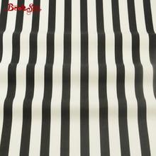 Ev Tekstili 100% Pamuk Malzeme Siyah ve Beyaz Şerit Desenler Booksew Kumaş Doku Yatak Bebek Tekstil Dekorasyon El Sanatları