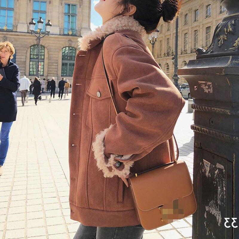 Femmes 2 Artificielle En corduroy Peluche De Côtelé Material Velours Materia Femme 1 Manteau Laine D'agneau Faux faux D'hiver Veste faux Fourrure Suede a0qfwSp