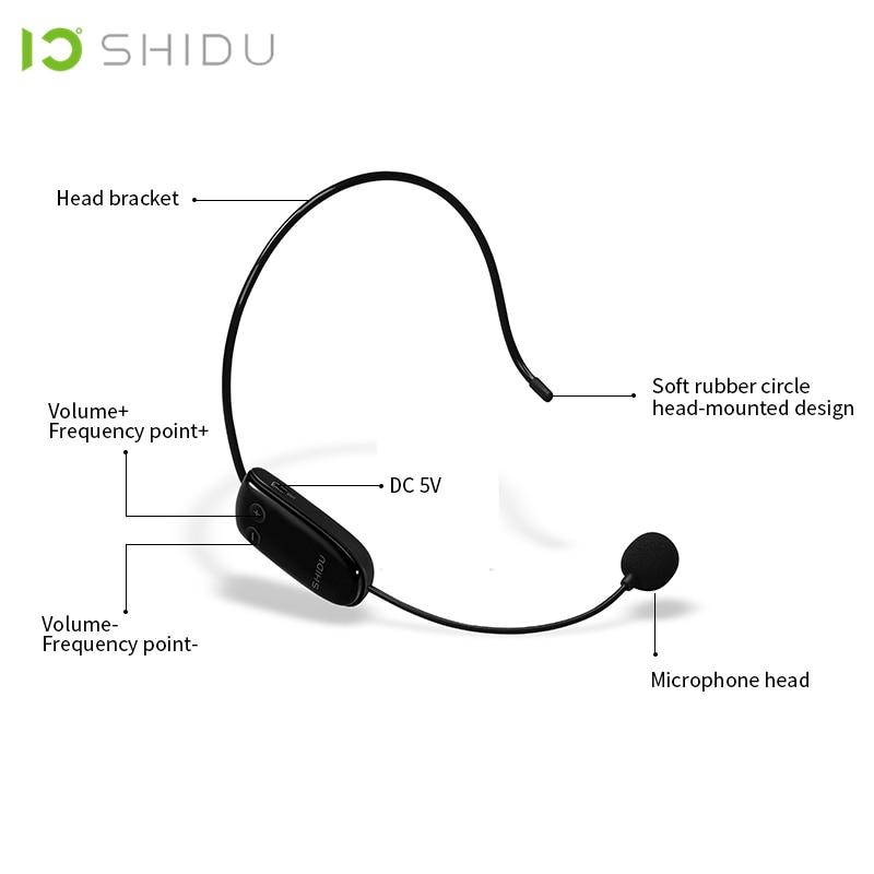Image 4 - SHIDU UHF Wireless Head Headset Microphone 2 In 1 Handheld  Portable MIC Voice Changer Amplifier For Speech 3.5mm Plug  ReceiverMicrophones