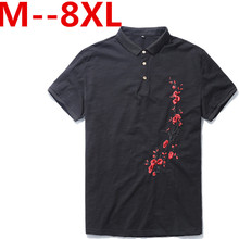 Plus size 10xl 9xl 8xl 7xl 6xl 5xl 4xl Embroidery Men Polo Shirt Slim Fit Short Sleeve 100% Cotton Brand Clothing Fashion Summer