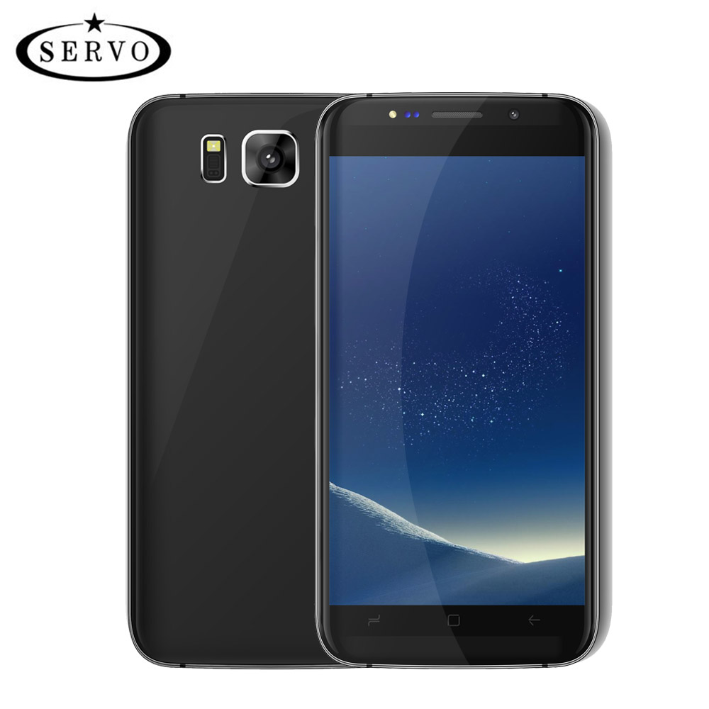Original Phone SERVO S8 edge 5.5 3D Curved Glass MTK6580M Quad Core Android 6.0 RAM 1GB ROM 8GB Camera 8.0MP WCDMA Mobile Phone