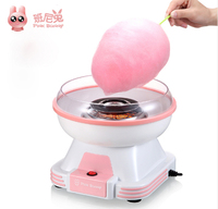 Pink Bunny Electric Cotton Candy Maker Mini Portable DIY Sweet Machine For Cotton Candy Household Food