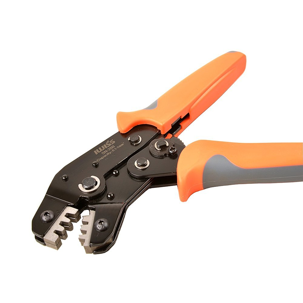 SN-28B Non-Insulated Tabs Terminals Crimper Professional Crimping Tool for Dupont Connector AWG 28-18