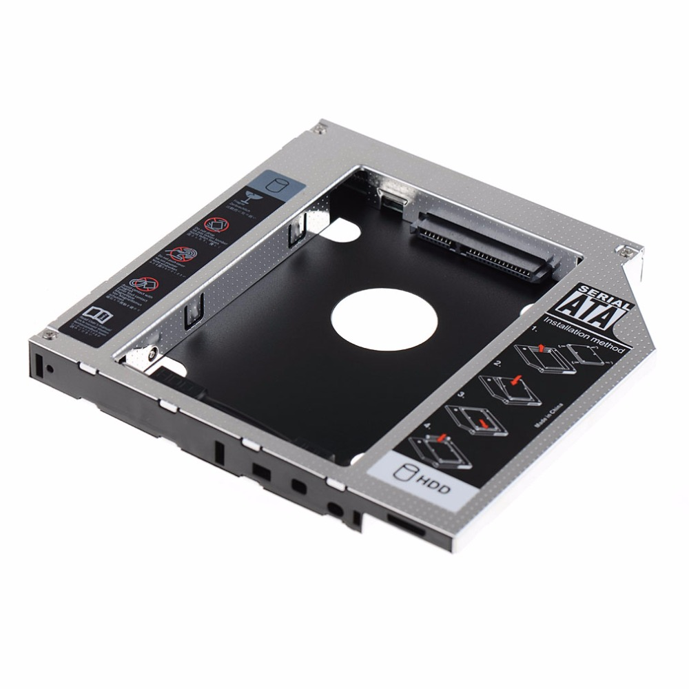 2nd HDD Hard Drive Caddy SATA 12.7mm SSD DVD For Apple iMac 2009 VCQ10 P79 ...