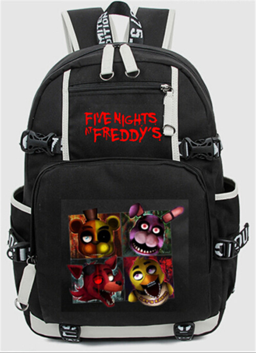 Five Nights At Freddy's Freddy Backpack Chica Foxy Bonnie FNAF Shoulder 44x15x33 cm Day Bag Pack