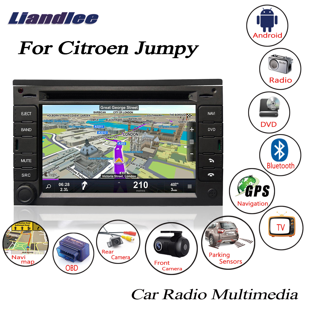 Liandlee For Citroen Jumpy 2007 2015 Android Car HD Screen Radio CD DVD Player GPS Navi