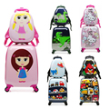 New Travel Children/Kid Cartoon Spinner  Size 14 inch Backpack 18inch Rolling Luggage Sets Carry on suitcase for girls Or boys