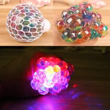 New Light Up Bola Uva Água Lodo Mole Crystal Clear Anti Stress Relief Squeeze Face Apaziguador Presente Prank Engraçado Brinquedos(China)
