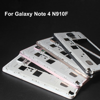 White Black Gold Original New For Samsung Galaxy Note 4 N910F Housing Middle Frame Panel Case