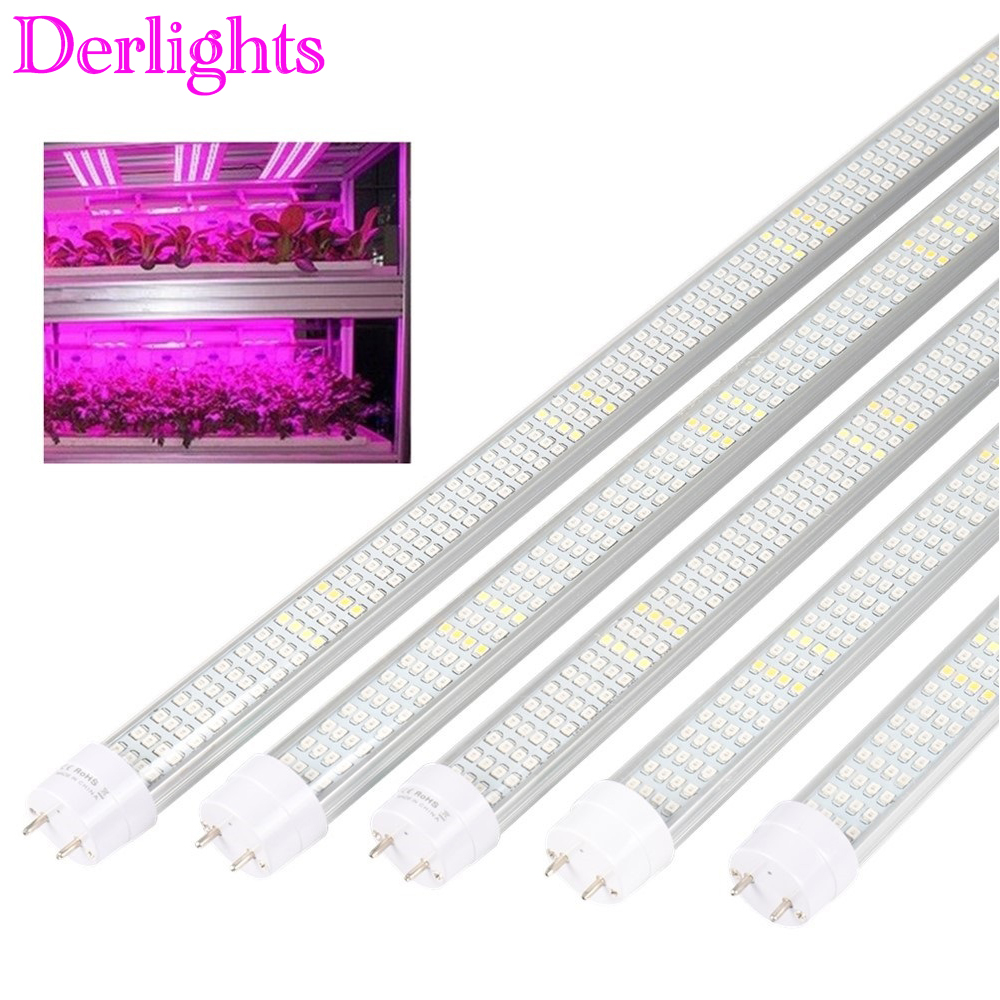 5pcs/Lot 60cm 90cm 120cm LED Grow Light Full Spectrum T8 Tube Grow Strip Lamp For Indoor Greenhouse Grow Tent Hydroponics Plants