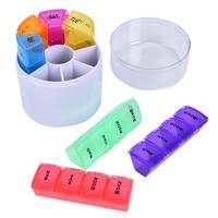 Еженедельный 7 дней чехол для таблеток для хранения лекарств коробка для таблеток с зажимом крышки органайзер для лекарств чехол для таблет...