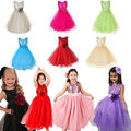 Baby Girl Fashion Flower Sleeveless Dress Girl Kids Baby Xmas Formal Sequin Ball Gown Dress 2-10Y