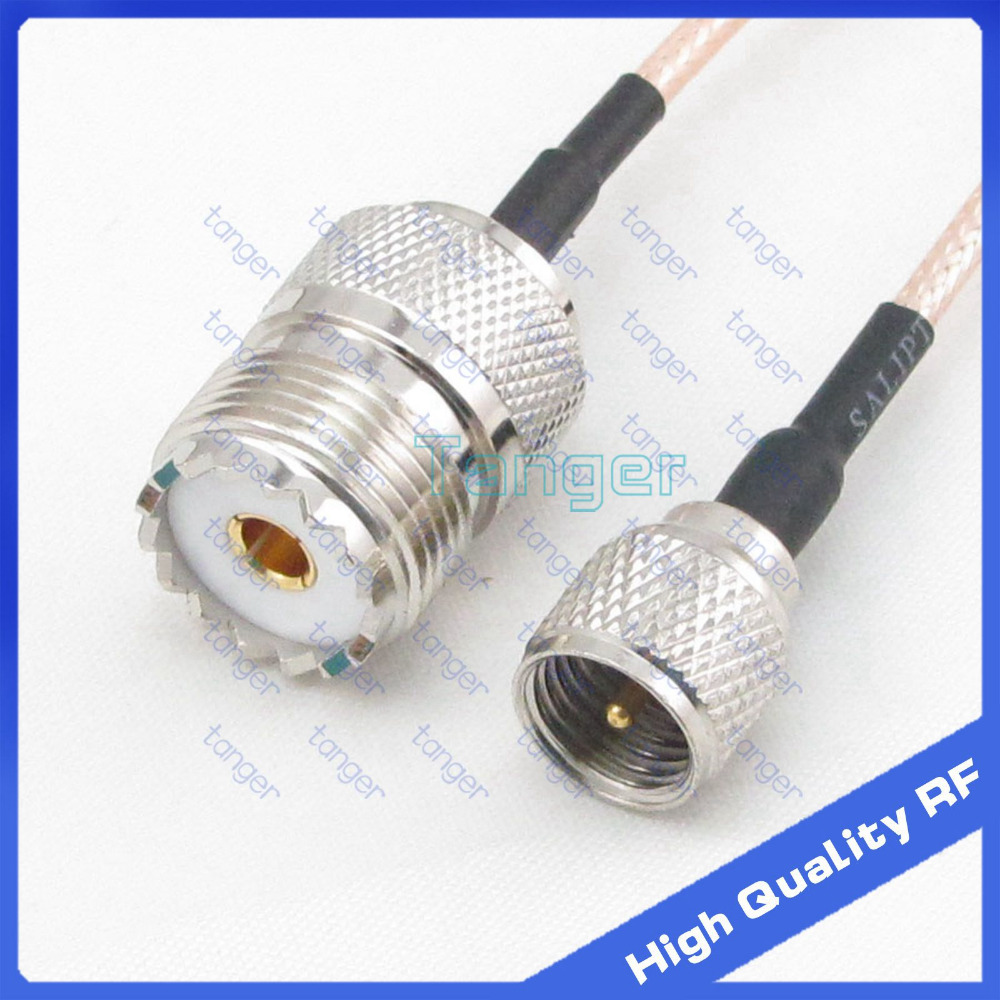 Mini UHF male plug PL-259 to UHF female jack SO239 straight with 20cm 8 RG316 RF Coaxial Pigtail Low Loss cable high qualityMini UHF male plug PL-259 to UHF female jack SO239 straight with 20cm 8 RG316 RF Coaxial Pigtail Low Loss cable high quality