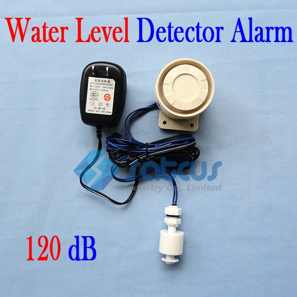 Independent Home Water Level Detector Alarm with 120 dB Siren (US Plug) digital oil level detector alarm work with gsm controller s130 for oil level water level river level monitoring 2pcs wld 200