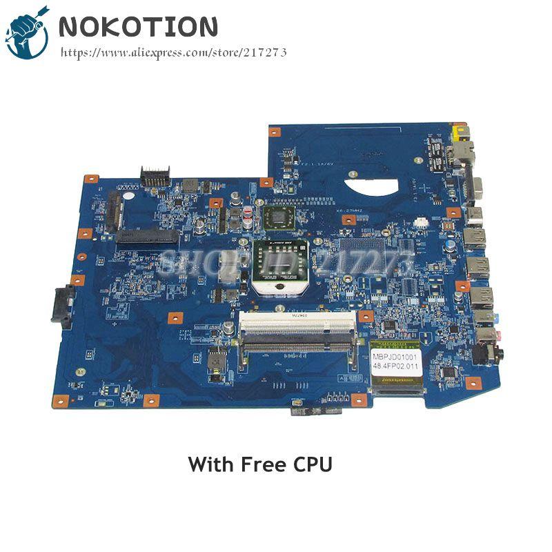 NOKOTION MBPJD01001 MBP.JD01.001 For Acer aspire 7540 Laptop Motherboard 48.4FP02.011 Socket S1 ddr2 Free Processor nokotion laptop motherboard for acer aspire one a150 zg5 da0zg5mb8f0 mainboard ddr2 full test works