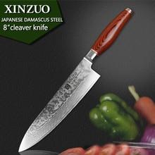 """Xinzuo 8 """"kochmesser high quality mode japanische vg10 damaststahl küchenmesser mit farbholzgriff sharp kostenloser versand"""