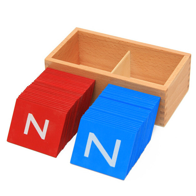 Baby Toys Montessori Lower And Capital Case Sandpaper Letters Boxes Wooden Toys Child Educational Early Development Gift