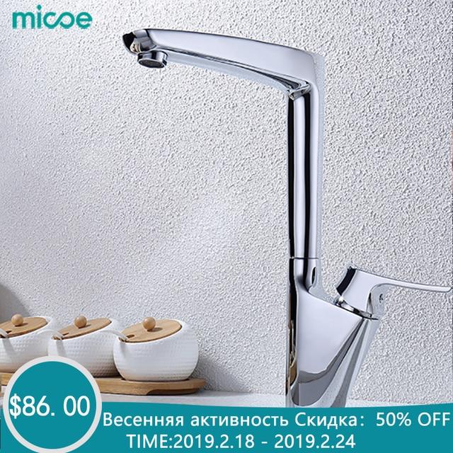 Micoe Neue Küche Armaturen Mischer Küche Wasserhahn Wasserhähne Heißer Und Kalt und Wasser Armaturen Chrom Waschbecken Armaturen H-HC112