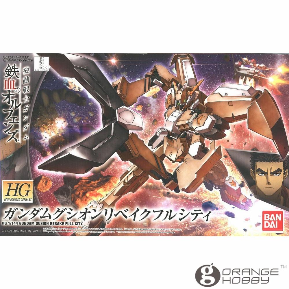 OHS Bandai HG Iron-Blooded Orphans 023 1/144 Gundam Gusion Rebake Full City Mobile Suit Assembly Model Kits oh ohs bandai tv iron blooded orphans season i 04 1 100 gundam gusion rebake mobile suit assembly plastic model kits