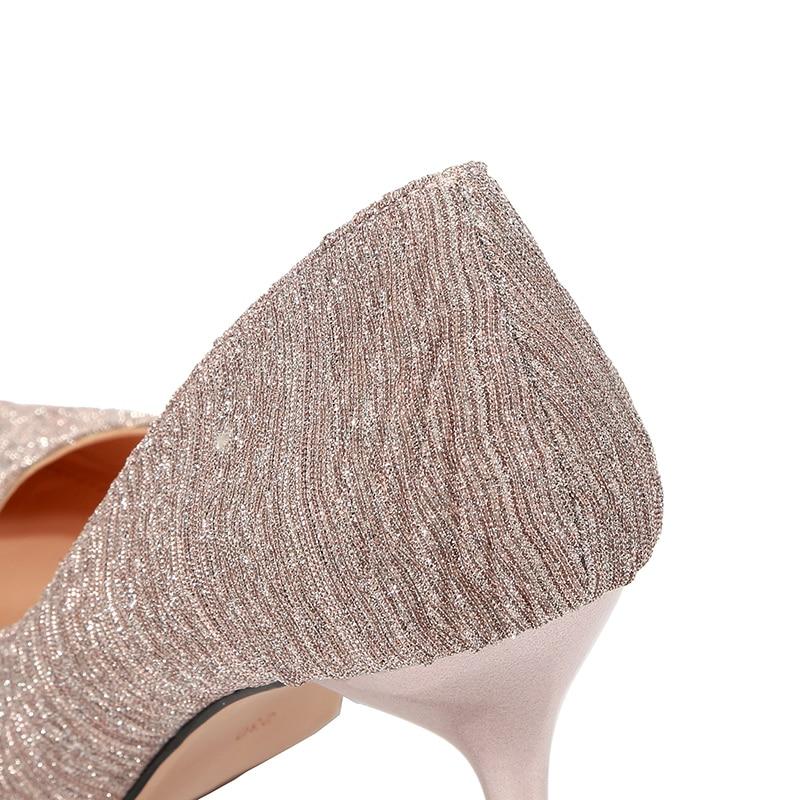 Tacón Heels Henlu} Las amp; golden Sexy De Heels Lujo Heels Zapatos Oro Mujer Damas pink Heels Tacones Alto Para Mujeres Bombas Arrugado Black Diseñador {d silver A4Pw5qw