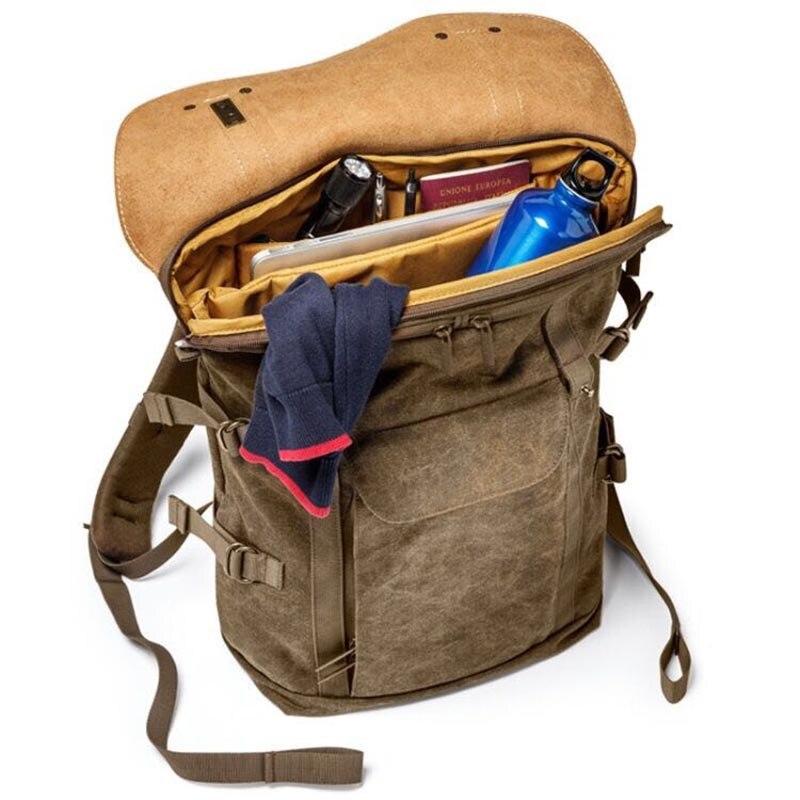 Venta al por mayor de la Colección Nacional Geográfica de África NG A5290 A5280 mochila para ordenador portátil SLR bolsa de lona bolsa de foto de cuero auténtico - 6
