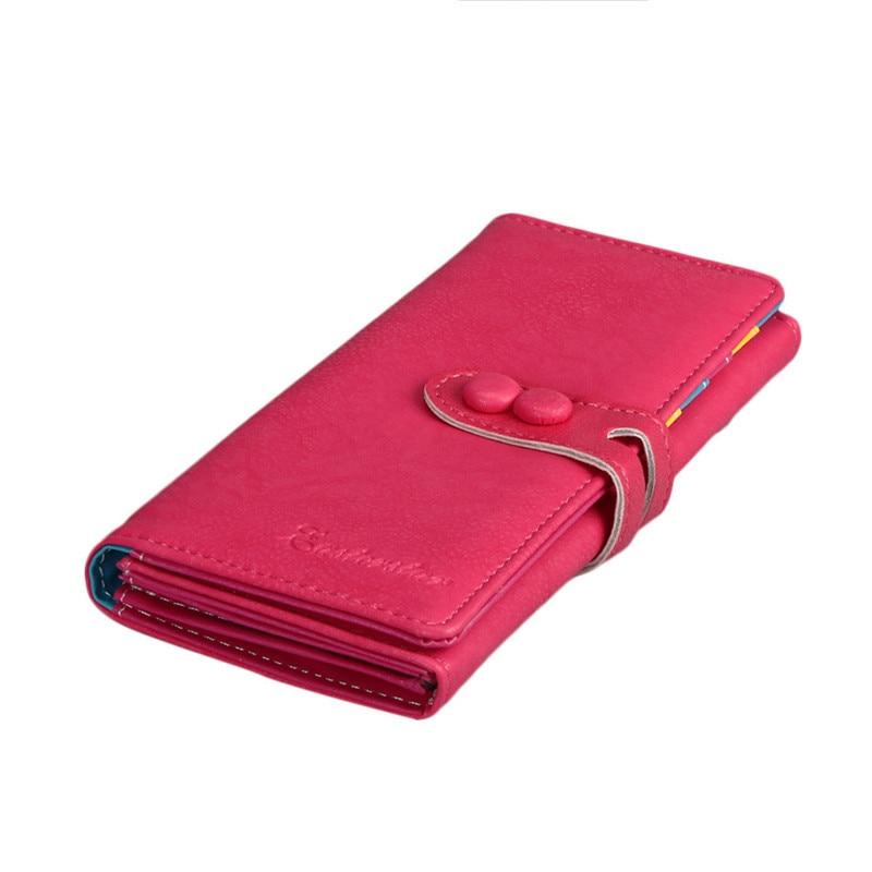 New Fashion Wallet Women Small Fresh Wallet Mobile Phone Bag Leather Hasp Long Design Purse Women's Wallets dames portemonnee 3